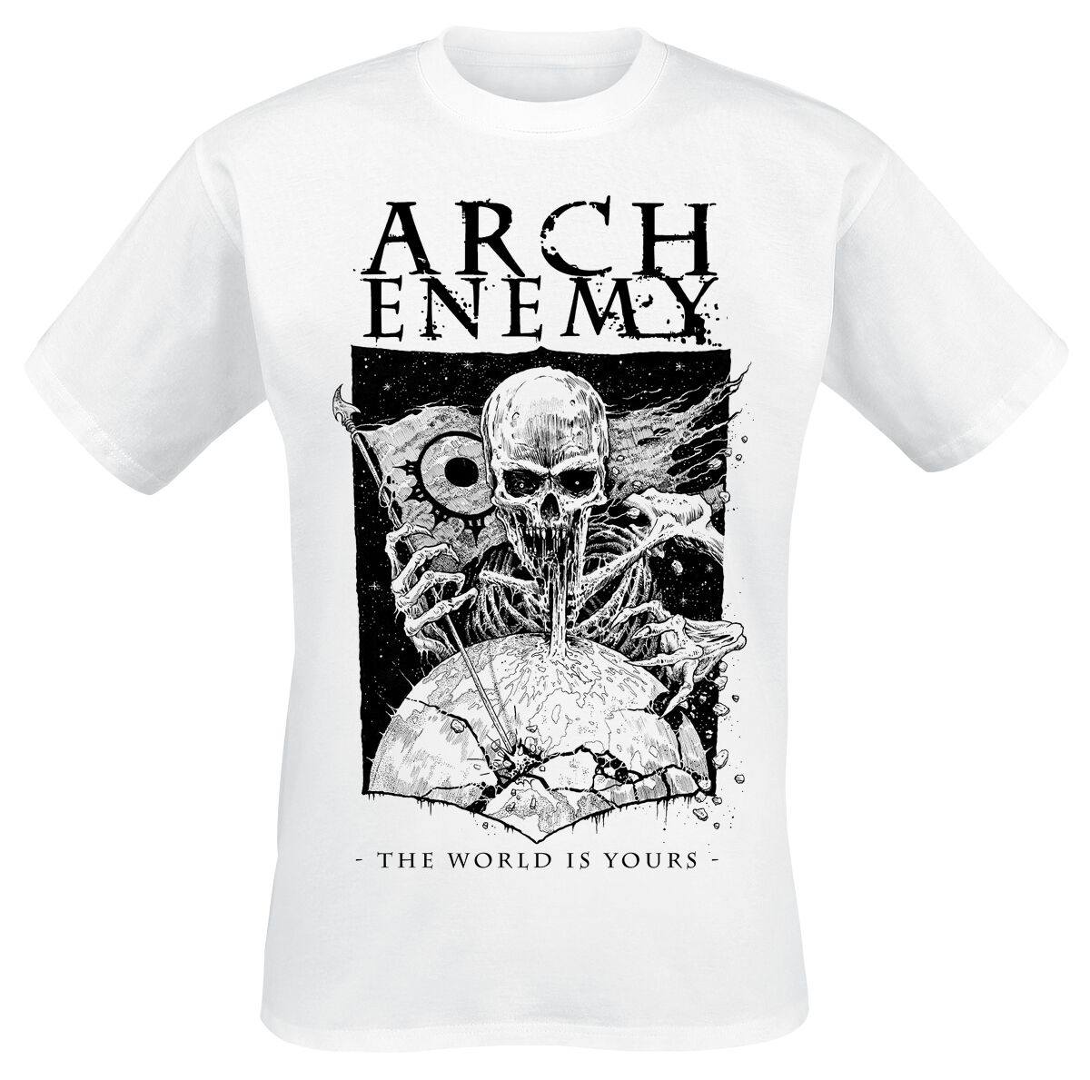 Image of   Arch Enemy The World Is Yours T-Shirt hvid