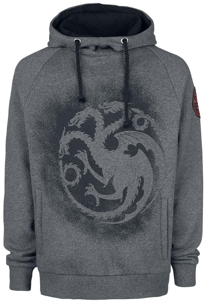 Image of   Game Of Thrones Targaryen Hættetrøje grålig