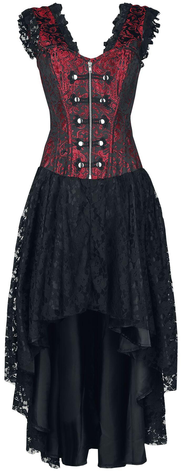 Image of   Burleska Gypsy kjole Kjole sort-rød