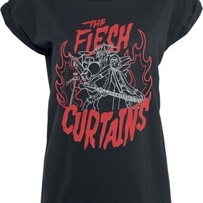 Rick & Morty Flesh Curtains T-shirt Femme noir