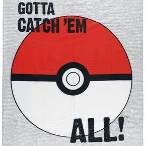 Pokémon Gotta Catch 'Em All Couverture polaire gris