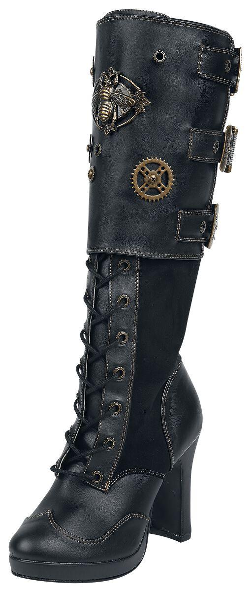 Stiefel für Frauen - Demonia Crypto 302 Stiefel schwarz  - Onlineshop EMP