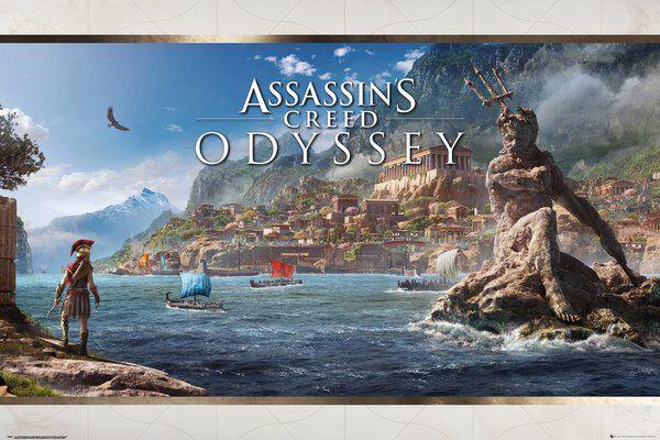 Image of   Assassin's Creed Odyssey - Vista Plakat multifarvet