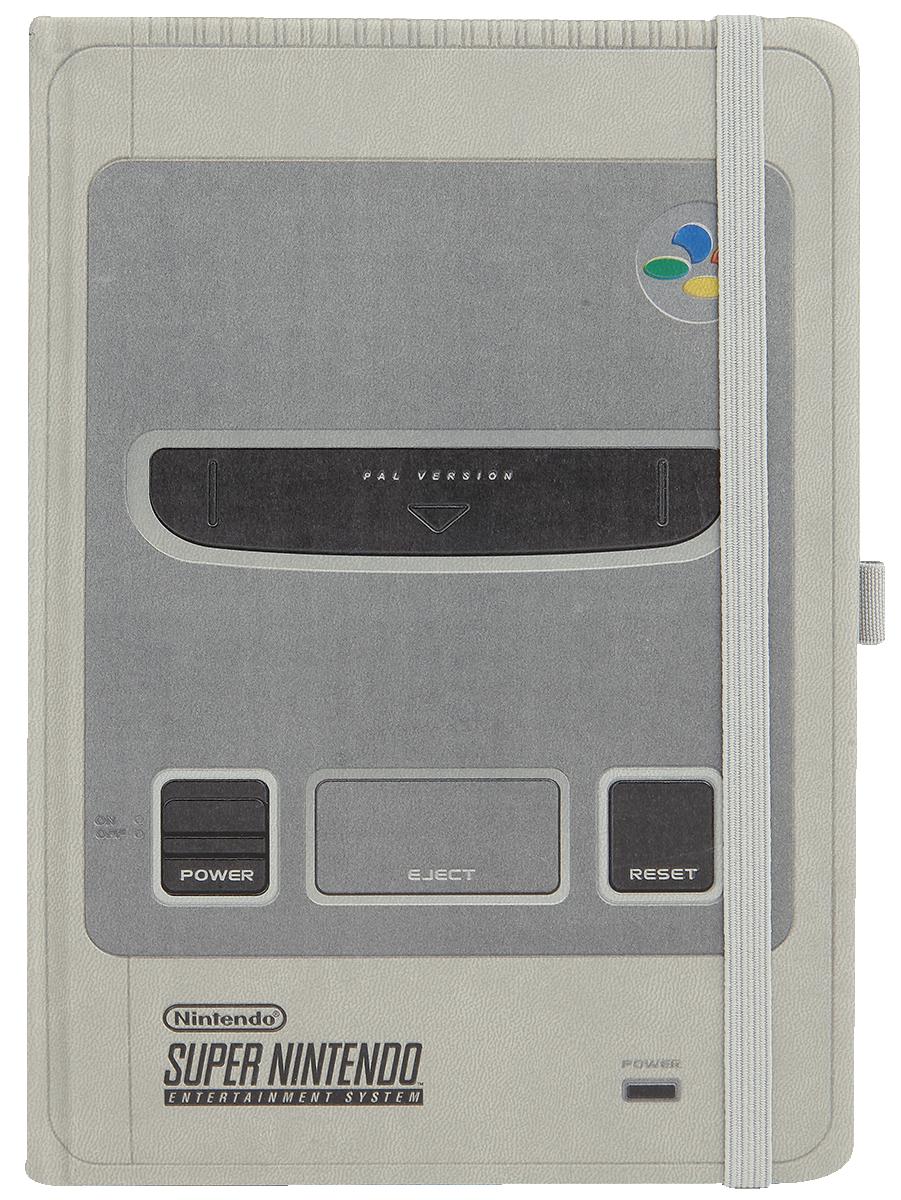 Nintendo SNES - Super Nintendo Notesbog grå