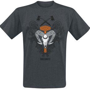 Call Of Duty Black Ops 4 - Ruin T-shirt gris chiné
