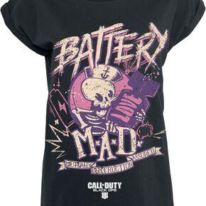 Call Of Duty Black Ops 4 - Battery T-shirt Femme noir