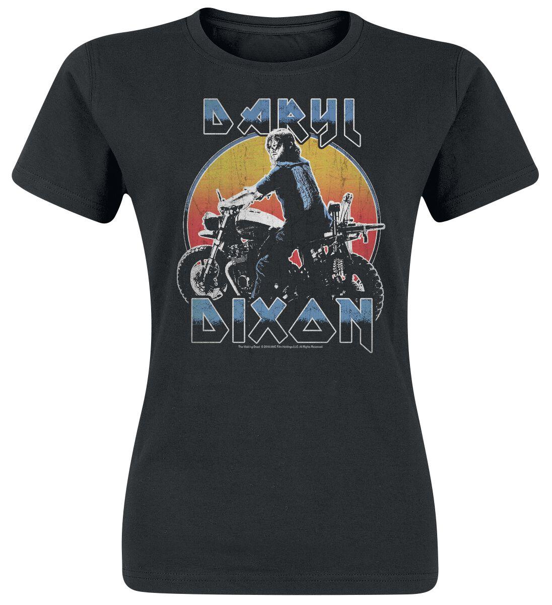 Image of   The Walking Dead Dixon Metal Girlie trøje sort