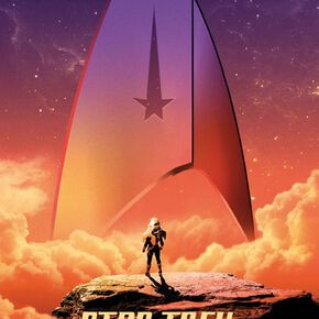 Star Trek Badge Discovery Sky Poster multicolore