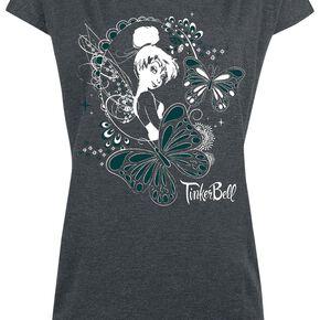 Peter Pan La Fée Clochette - Butterflies T-shirt Femme gris sombre chiné