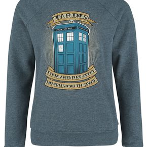 Doctor Who Time And Relative Sweat-shirt Femme bleu chiné