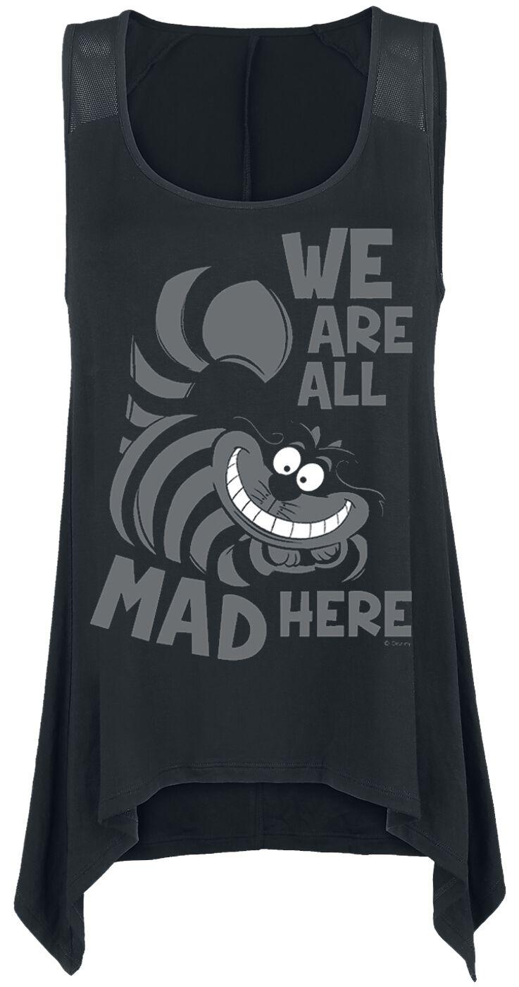 Image of   Alice i Eventyrland Grinsekatze - Mad Here Girlie top sort