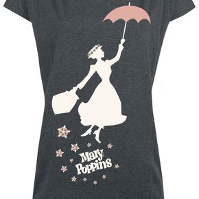 Mary Poppins Umbrella T-shirt Femme gris sombre chiné