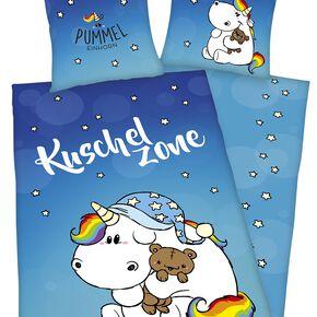 Chubby Unicorn Kuschelzone Parure de lit 1 place multicolore