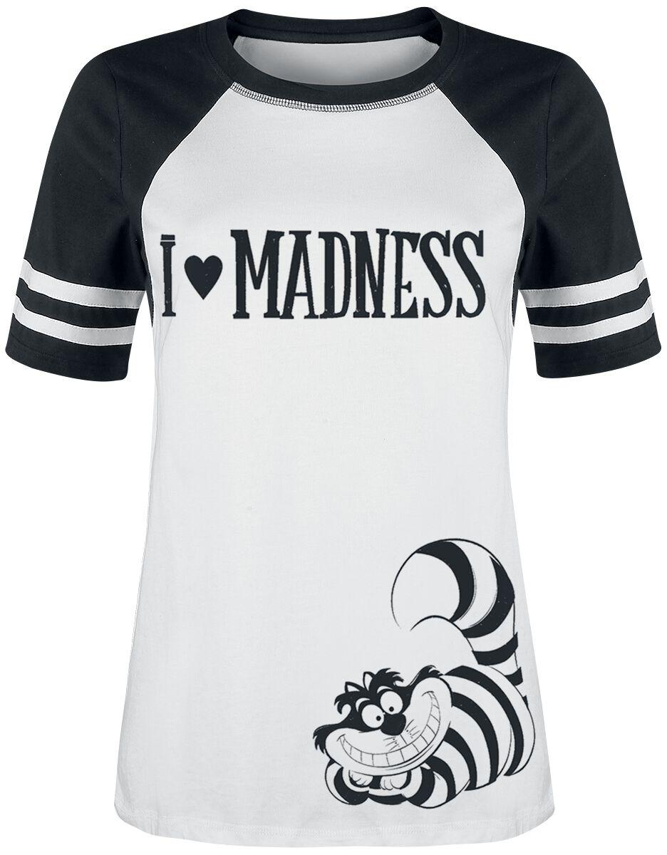 Image of   Alice i Eventyrland I Love Madness Girlie trøje sort-hvid