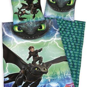 How To Train Your Dragon Parure de lit 1 place multicolore