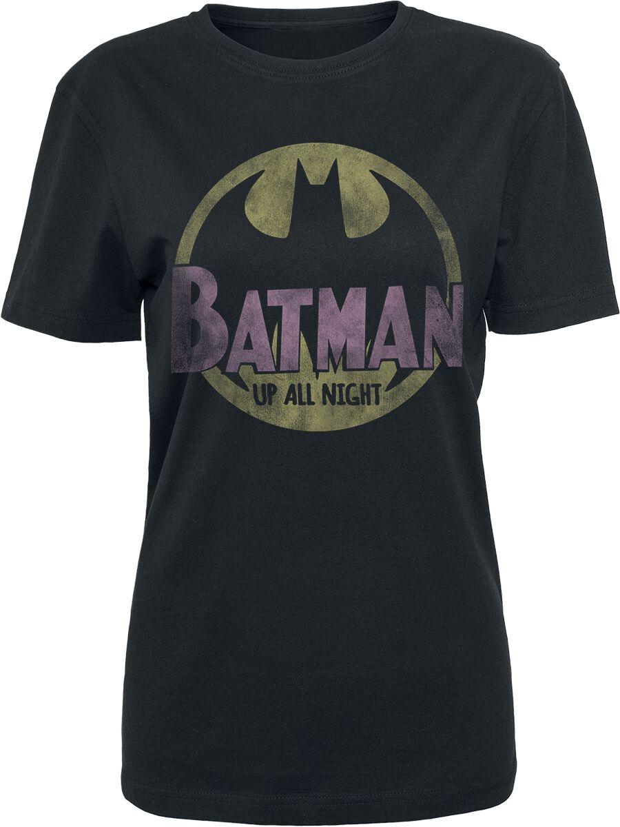 Image of   Batman Up All Night Girlie trøje sort