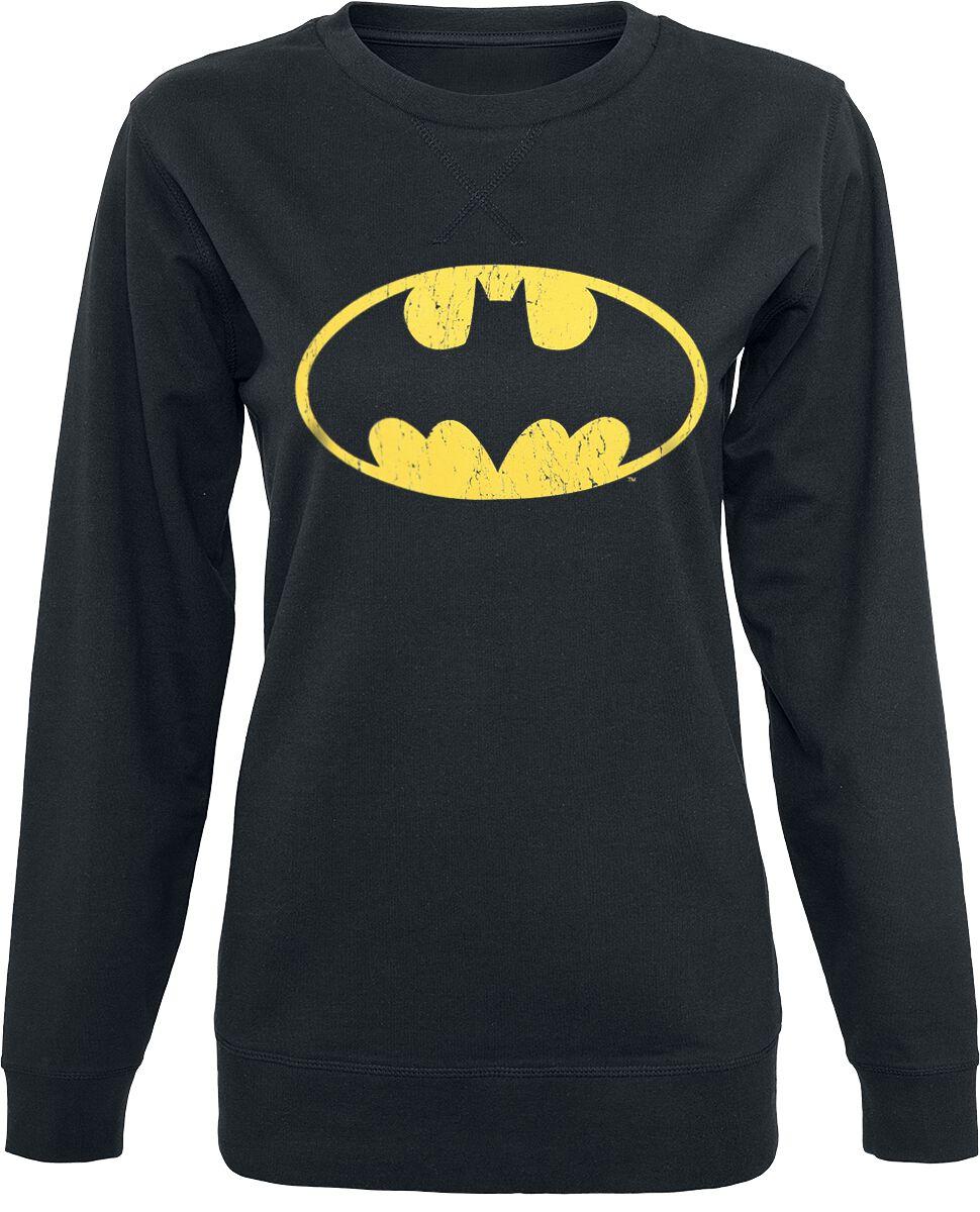 Image of   Batman Vintage Logo Girlie sweater sort