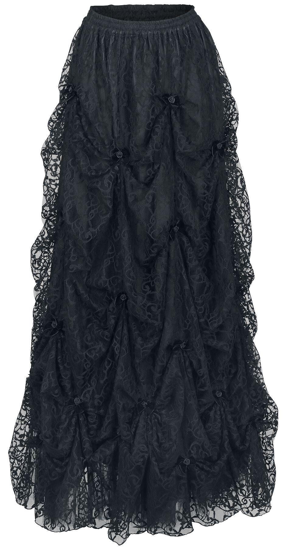 Image of   Sinister Gothic Long middelalderlig-nederdel Nederdel sort