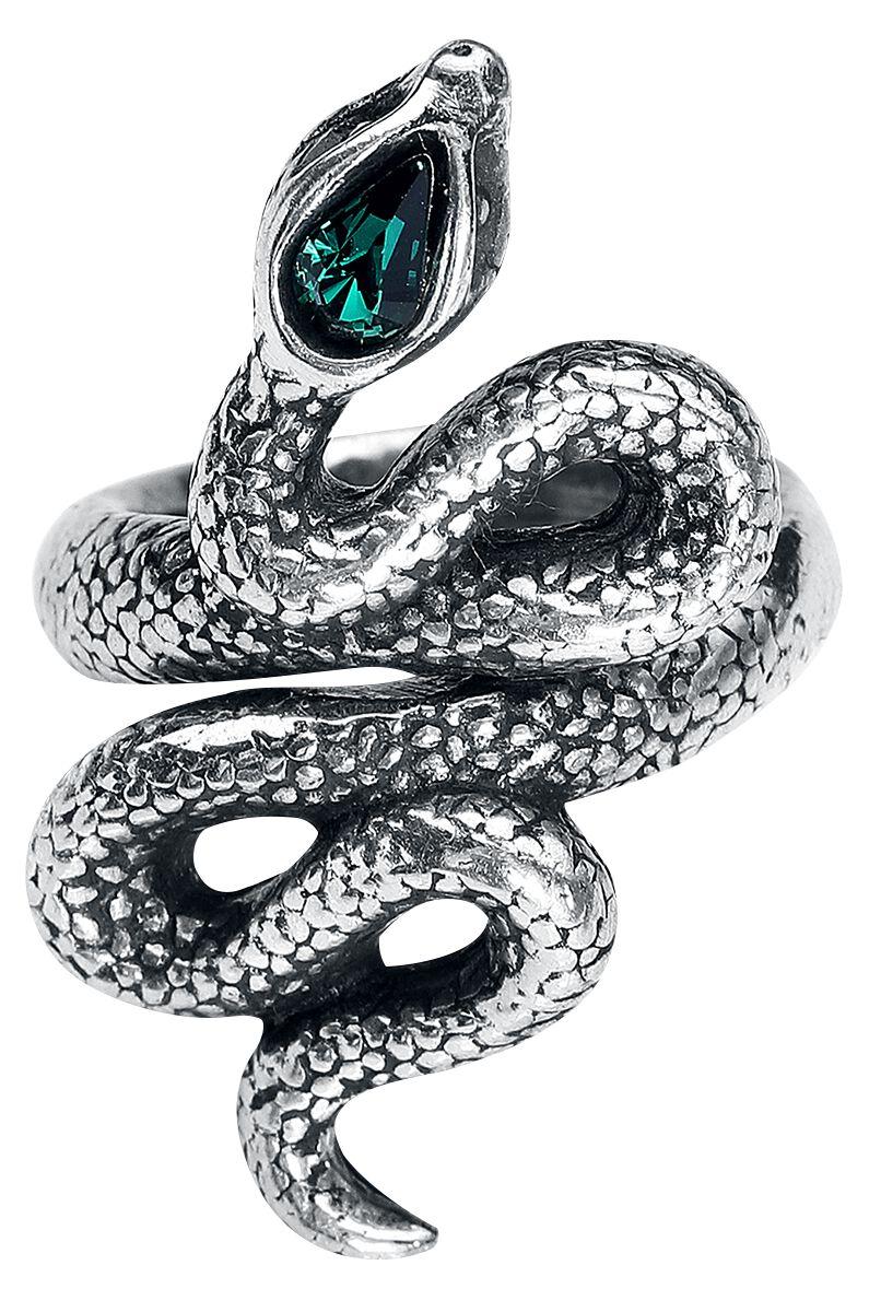 Image of   Alchemy Gothic Psalm Ring sølvfarvet