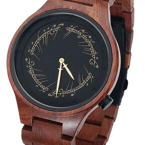 Le Seigneur Des Anneaux Ring Inscription Montre bracelet marron