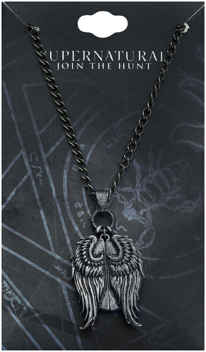 Image of   Supernatural Castiel Secret Message vedhæng Halskæde sølvfarvet