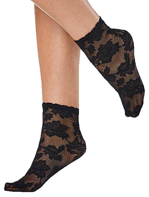 Pamela Mann - All Over Lace Ankle Socks - Socks - black
