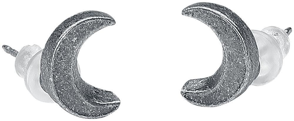 Image of   Alchemy Gothic Sickle Moon Ear Studs Ørestik sæt sølvfarvet