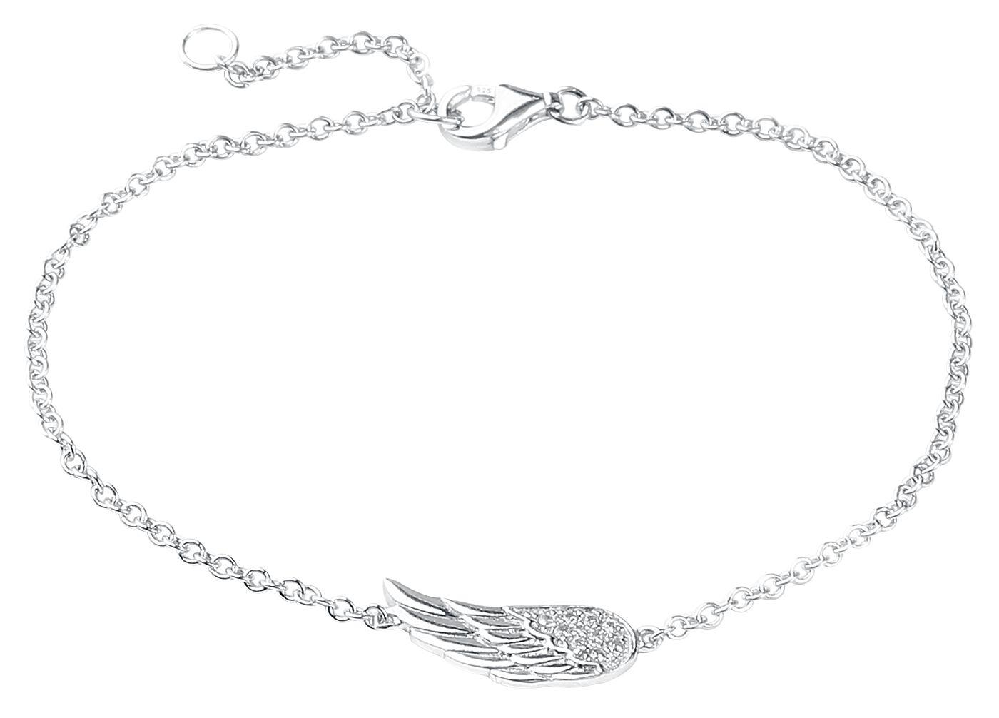 Armbaender für Frauen - Flügel Armband silberfarben  - Onlineshop EMP