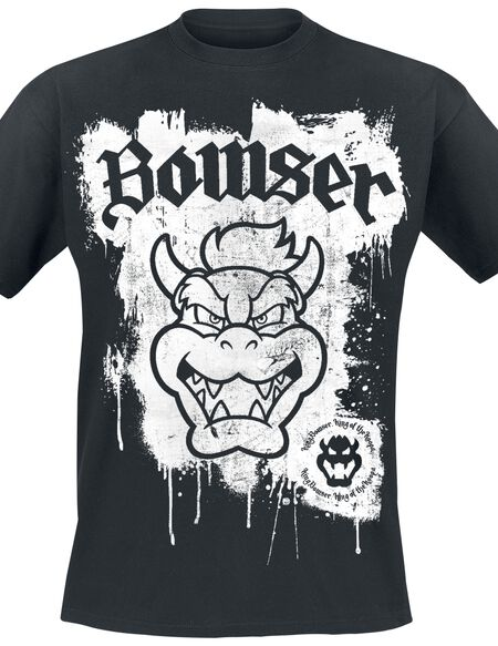Super Mario King Bowser T-shirt noir