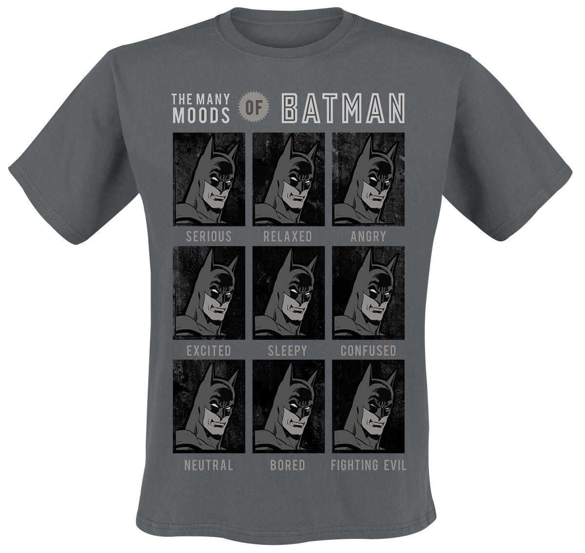 Image of   Batman Moods Of Batman T-Shirt grå