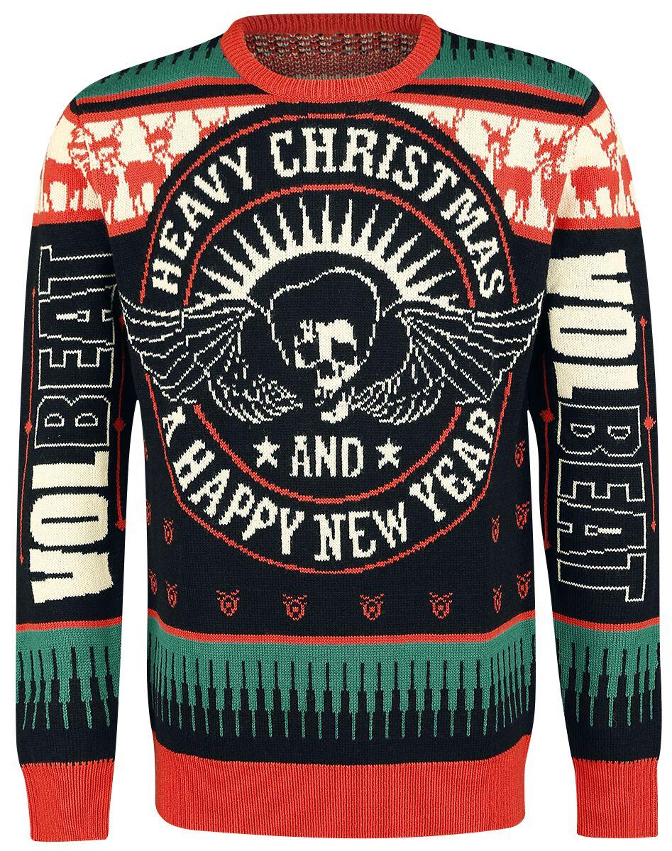 Image of   Volbeat Holiday Sweater 2018 Strikketrøje sort-rød
