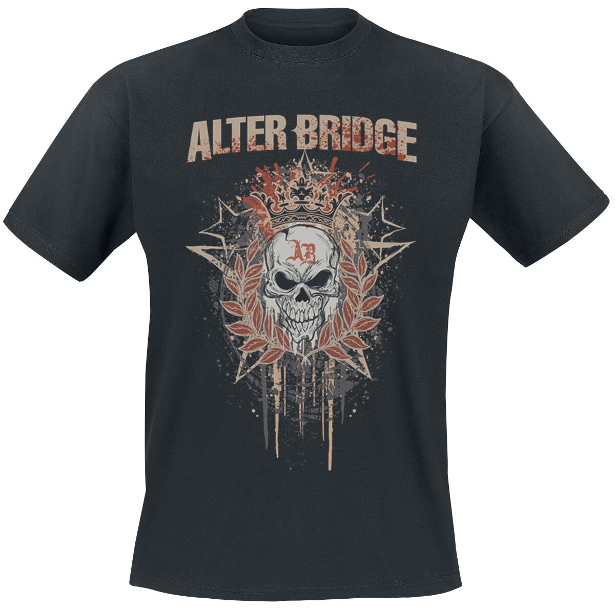 Image of   Alter Bridge Royal Skull T-Shirt sort