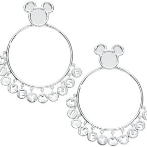 Mickey & Minnie Mouse Disney by Couture Kingdom - Mickey Boucles d'oreilles couleur argent