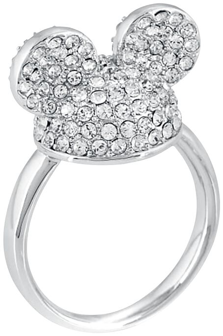 Image of   Mickey & Minnie Mouse Disney by Couture Kingdom - Crystal Hat Ring sølvfarvet