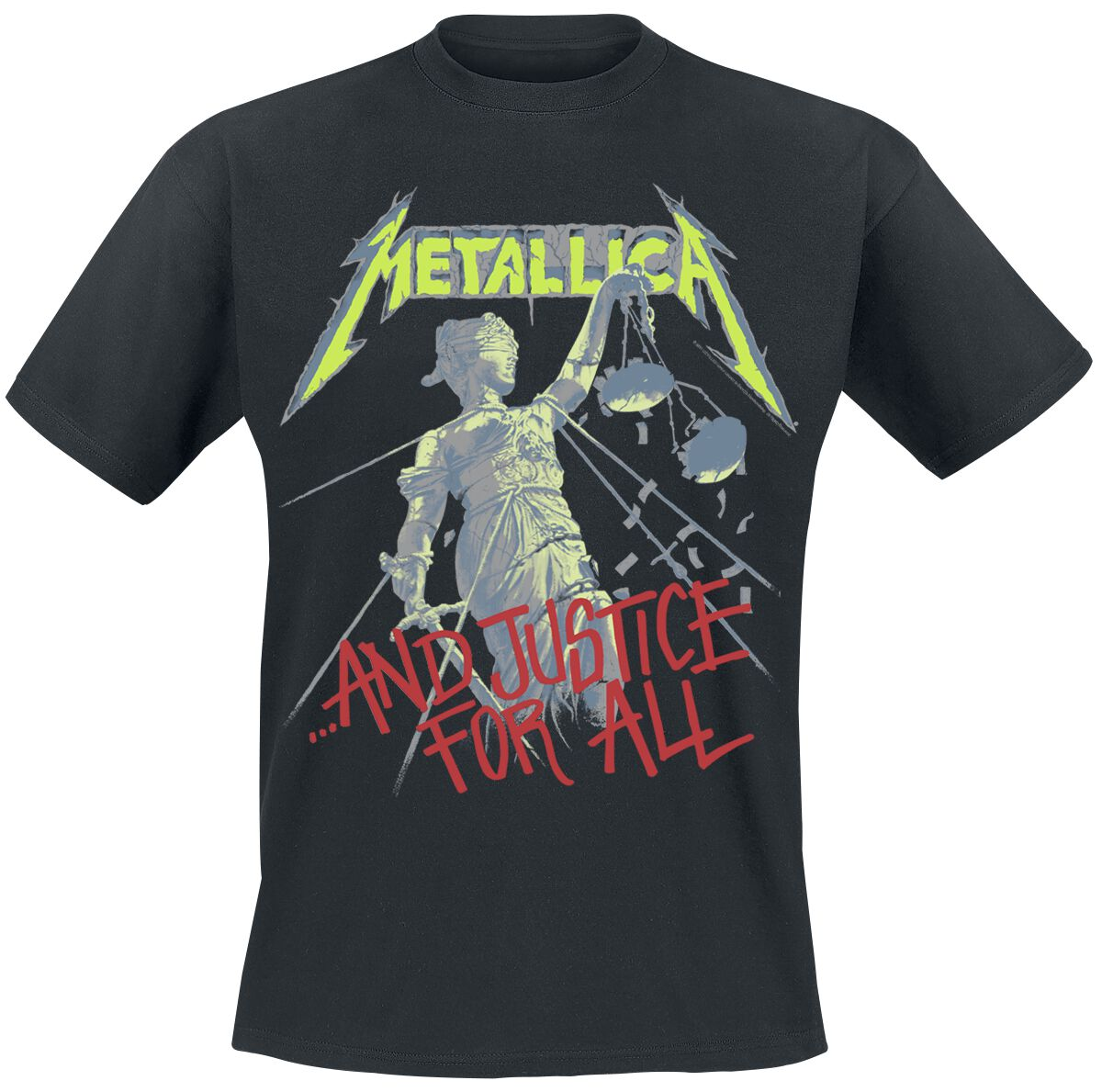 Image of   Metallica Justice Tracks T-Shirt sort