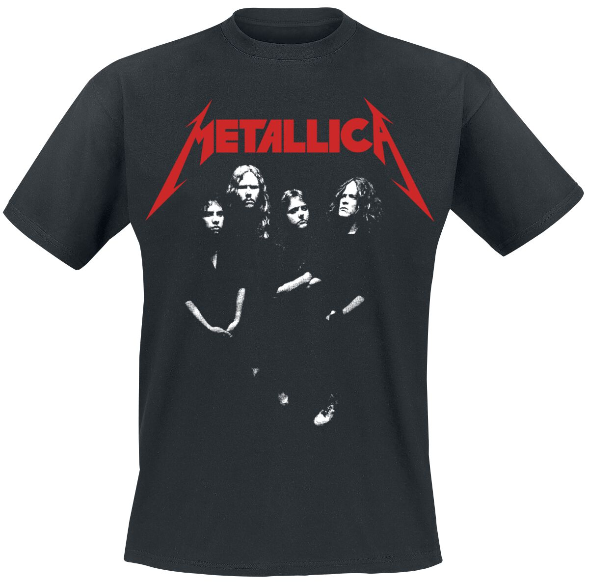 Image of   Metallica Four Faces T-Shirt sort