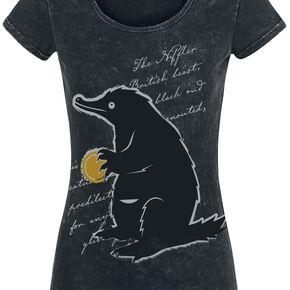 Les Animaux Fantastiques Les Crimes De Grindelwald - Niffleur T-shirt Femme noir