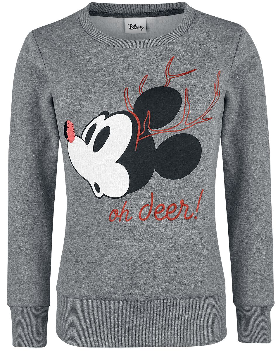 Image of   Mickey & Minnie Mouse Oh Deer Girlie sweatshirt grålig