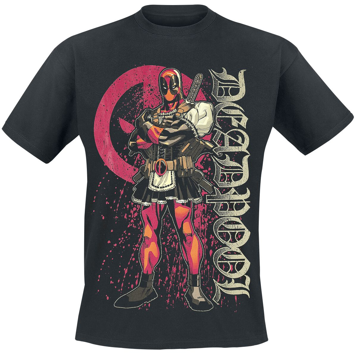 Image of   Deadpool Bloody Housewife T-Shirt sort