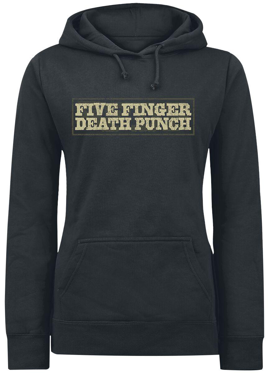 Image of   Five Finger Death Punch Cross Guns Girlie hættetrøje sort