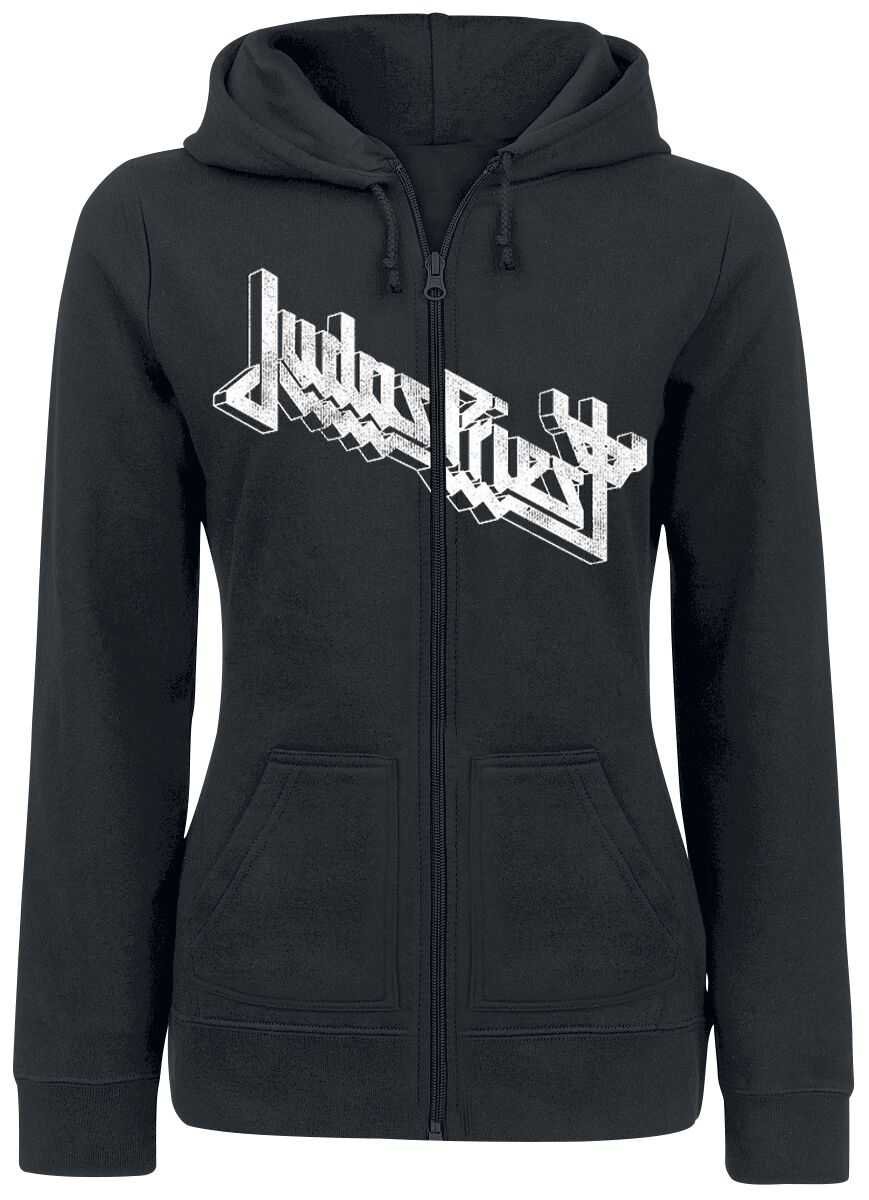 Image of   Judas Priest Wireframe Firepower Girlie hættejakke sort