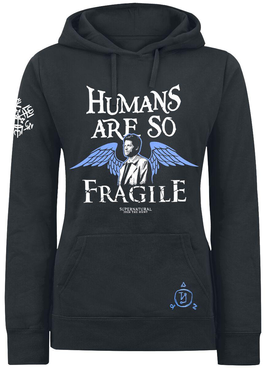 Image of   Supernatural Castiel - Humans Girlie hættetrøje sort