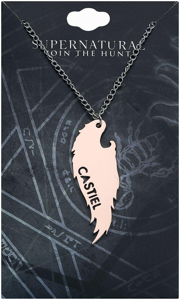 Image of   Supernatural Castiel Flügel Halskæde sølvfarvet