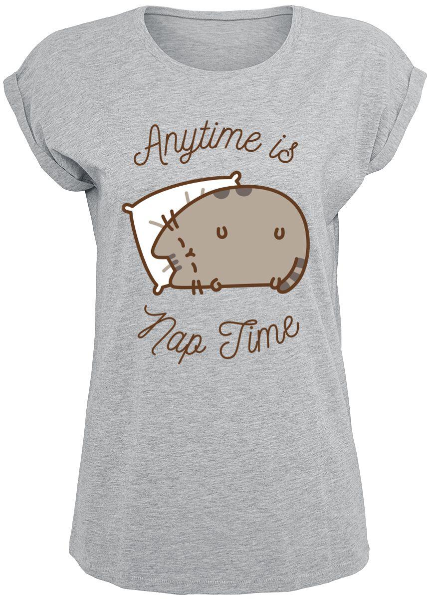 Pusheen Anytime Is Nap Time Koszulka damska odcienie szarego