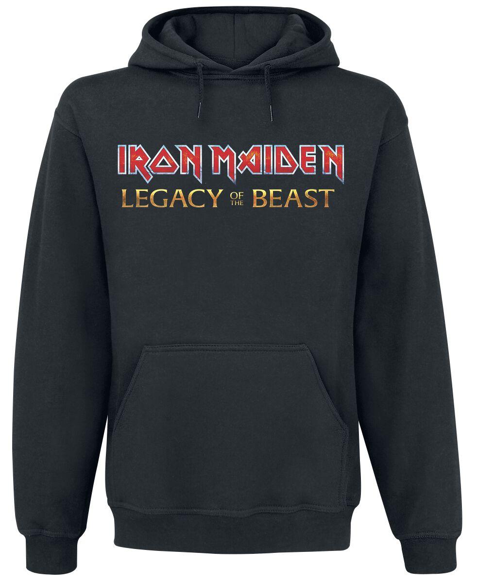 Image of   Iron Maiden Eddie On Bass Hættetrøje sort