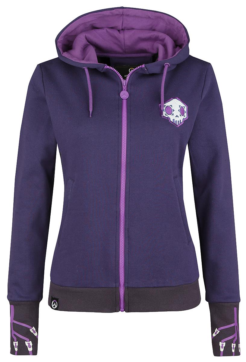 Overwatch - Sombra - Hero - Girls hooded zip - lilac image