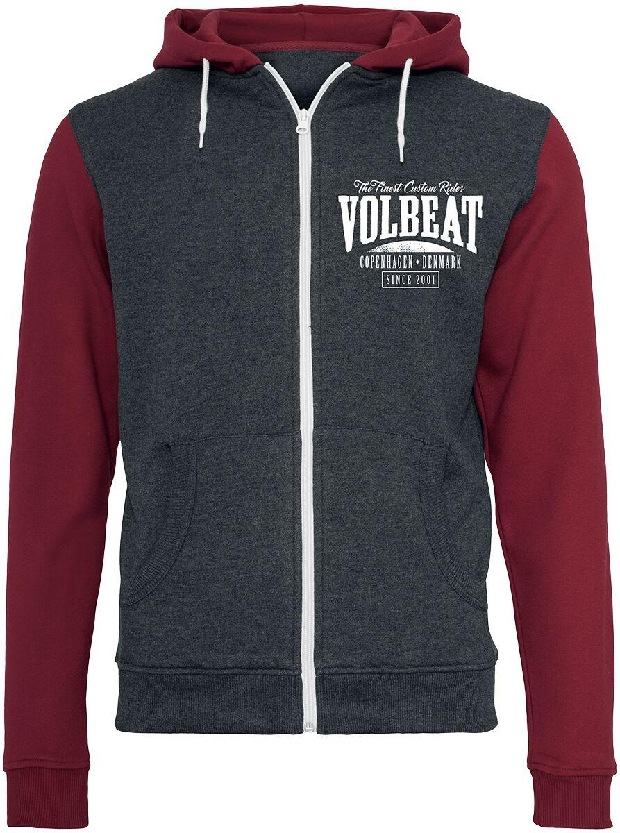 Image of   Volbeat Louder And Faster Hættejakke rød-grå