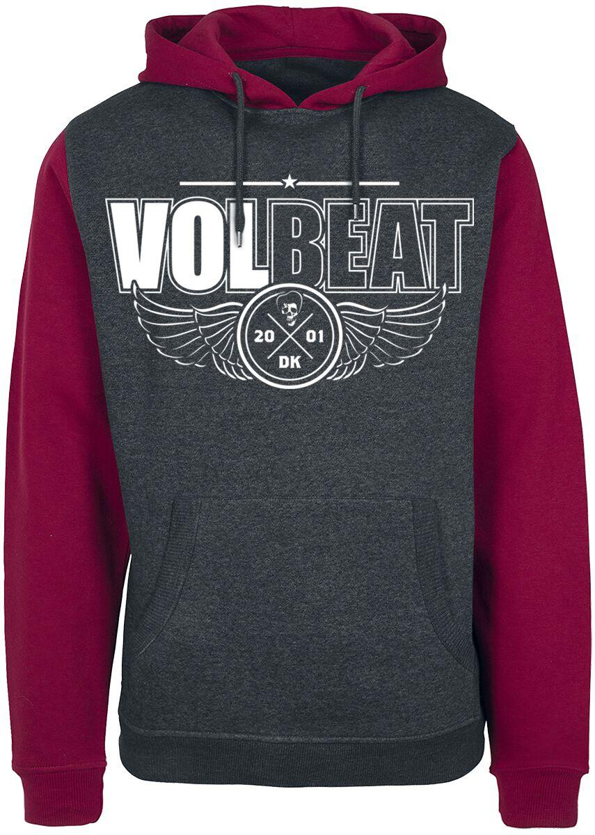 Image of   Volbeat Let's Boogie Hættetrøje rød-grå