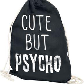Cute But Psycho Sac de Gym noir