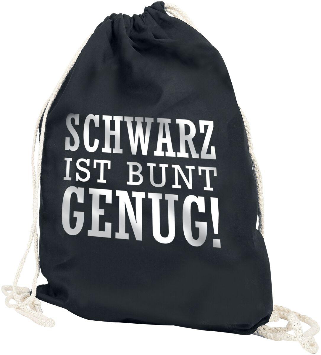 Sporttaschen für Frauen - Schwarz ist bunt genug Turnbeutel schwarz  - Onlineshop EMP